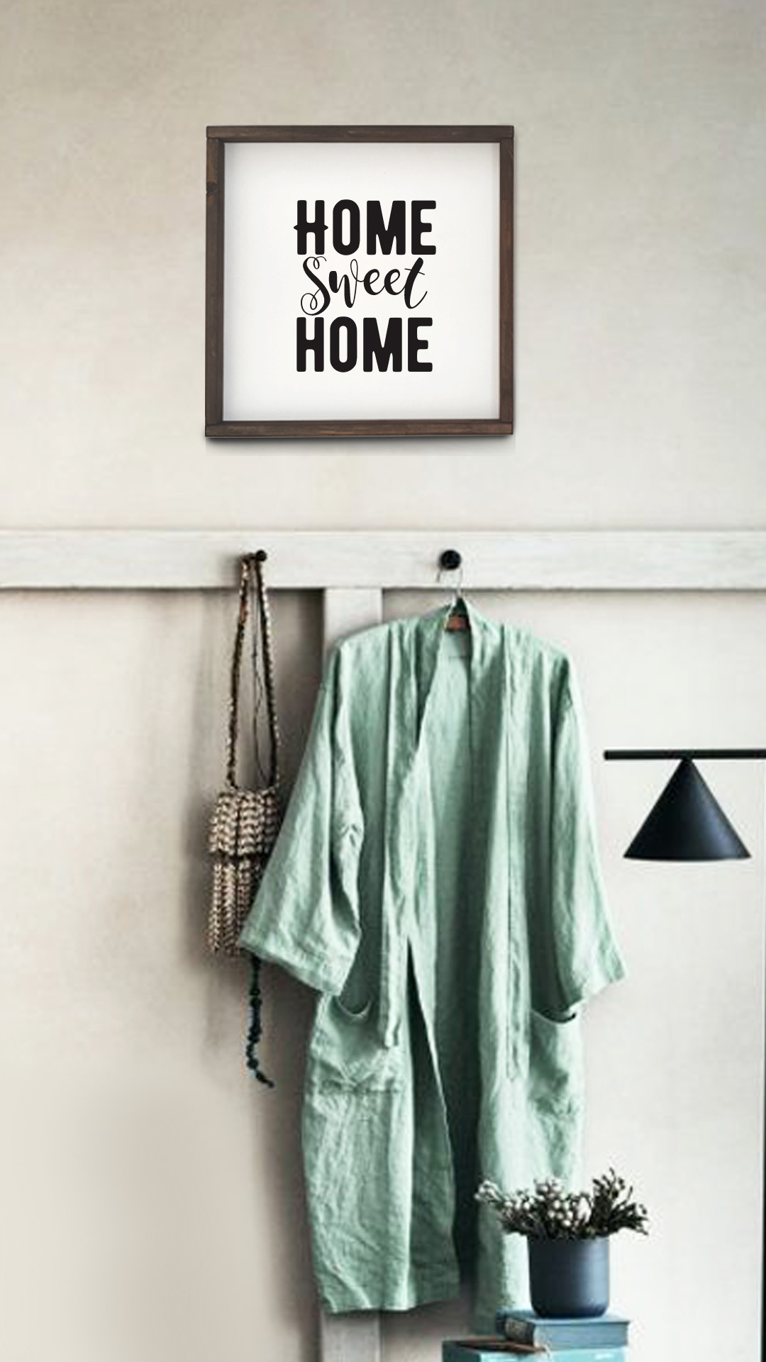 интерьерное панно Home sweet home в интерьере