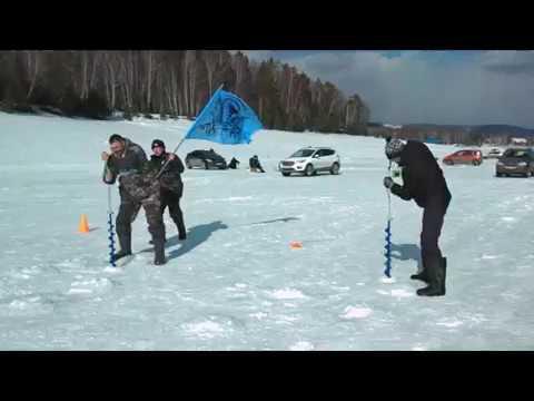 Соревнования по скоростному бурению лунок для подлёдного лова рыбы..