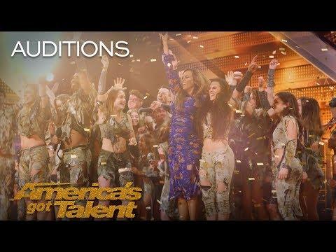 Zurcaroh Golden Buzzer Worthy Aerial Dance Group Impresses Tyra Banks - Americas Got Talent 2018