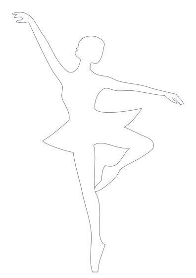 Сложите снежинку-юбочку пополам и сделайте в... Распечатайте шаблон, вырежьте фигурку балерины.