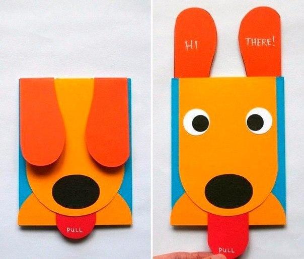 Простые открытки для детей своими руками 49