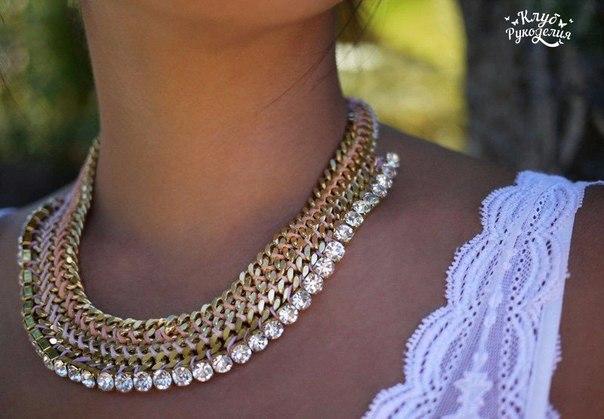 Делаем красивое ожерелье — просто и недорого!