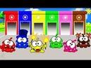 Цвета для детей АМ НЯМ учим цвета на английском языке