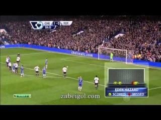 Челси - Тоттенхэм 4:0.Чемпионат Англии,29-й тур.Обзор матча