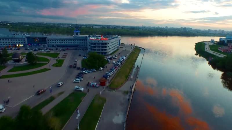 ОМСК слияние рек Омь и Иртыш VIDEOROLIK TV
