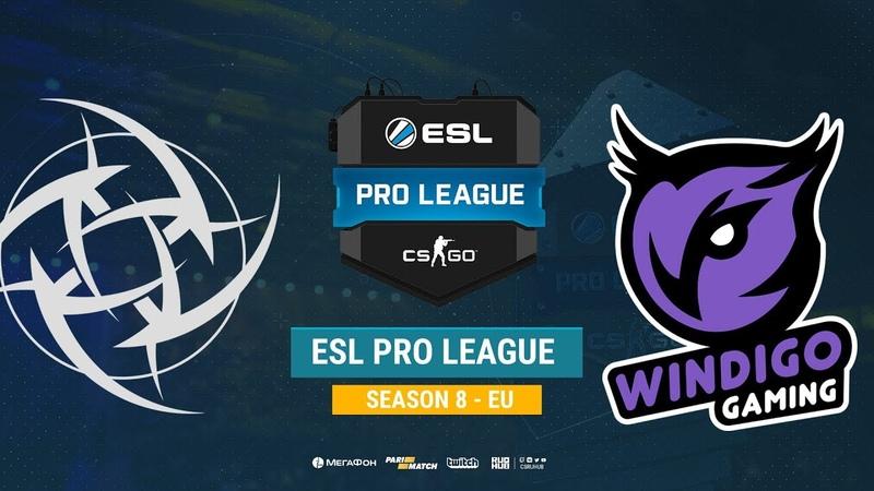 NiP vs Windigo - ESL Pro League S8 EU - bo1 - de_mirage [CrystalMay Anishared]