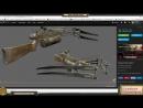 Leoluch - Разработка игрового контента - Моделинг арбалета , часть вторая
