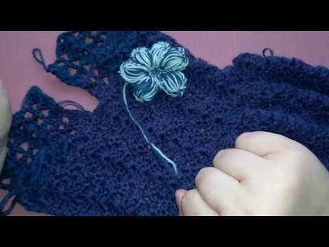 МК .Платье крючком для девочек 2- часть