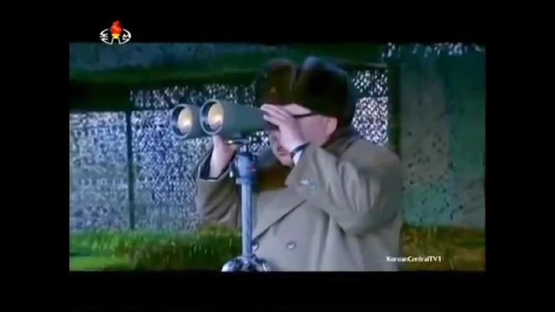 Показательные стрельбы в честь 85-летия создания северокорейской армии