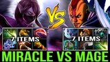 MIRACLE- vs Noone Mage - Full Items Carry Battle! Who's the Boss