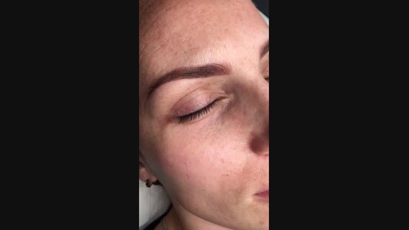 Перманентный макияж бровей и межресничного пространства Без боли результат на лицо
