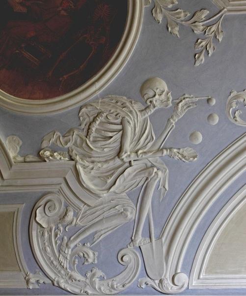 Смерть, которая выдувает мыльные пузыри. XVIII век, Бамберг, Германия