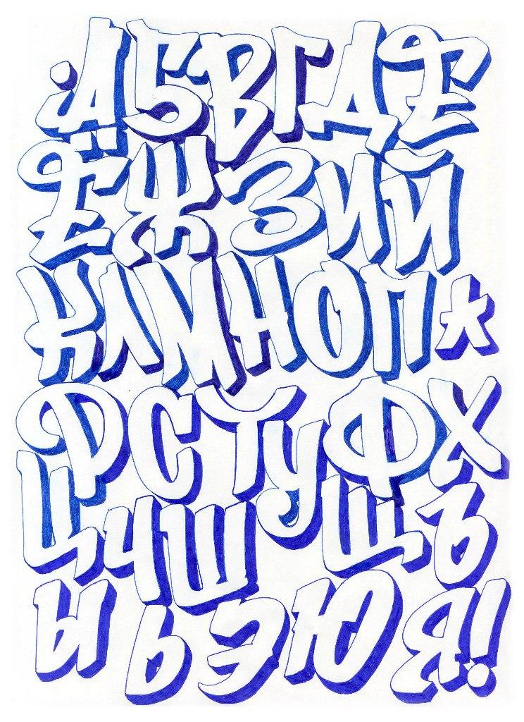 буквы граффити картинки русские