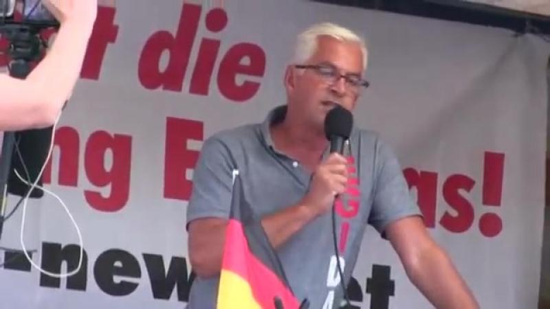 PEGIDA Dresden 20 08 2018 Wolfgang Taufkirch 'Wer die CSU wählt offene Grenzen