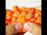 Слайм с апельсинками
