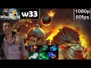 W33 (Meepwn'd) - Techies Pro Gameplay | with Pliliedie | Solo Offlane MMR [Dota 2 Pro] @60fps