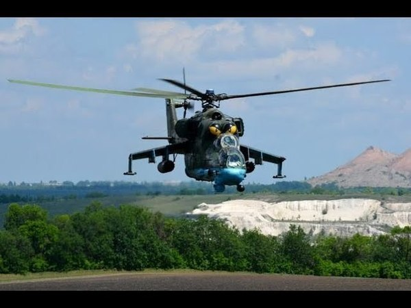 Бойові вертольоти над Донбасом - навчання підрозділів Обєднаних сил.