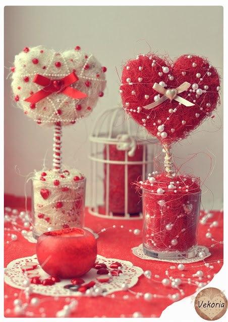 Топиарий к дню святого валентина своими руками