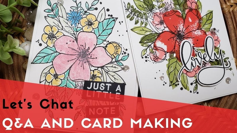 Q A and Card Making   Concord 9th Hey Lovely