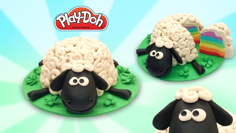 Play Doh Cartoon Cake. Making Shaun the Sheep. Play Doh Videos for Kids. Easy DIY for Kids