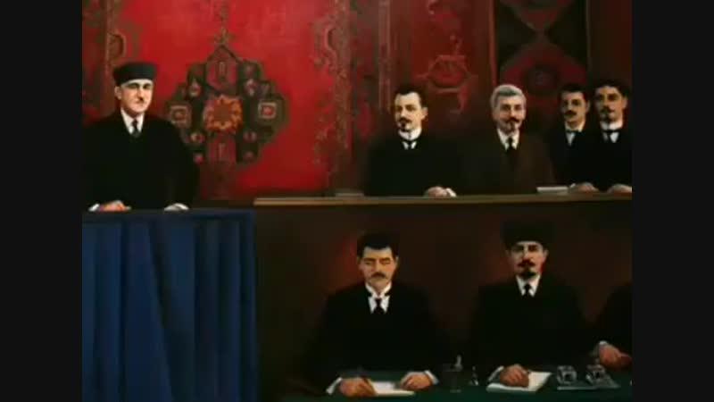 Гимн Азербайджана в исполнении Узеира Гаджибекова и Ахмеда Джавада.