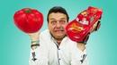 Rayo McQueen se convierte en un tomate Dibujos animados de coches de juguete