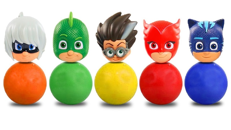 Pj Masks Toys Wrong Heads Learn Color with Clay and Cups Gels Colorful Hand 8