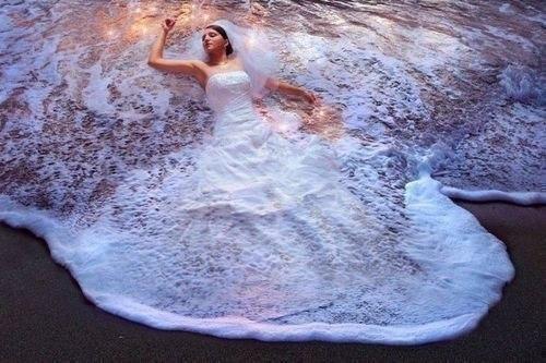 Идея для свадебного фото.