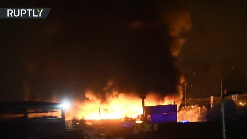 Toxic alert- Plastic waste fire rages in Milan