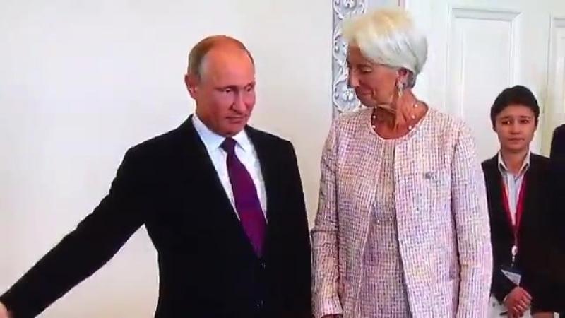 Лагард приехала к Путину: В Константиновском дворце началась встреча президента с главой МВФ.