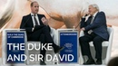 The Duke of Cambridge in conversation with Sir David Attenborough