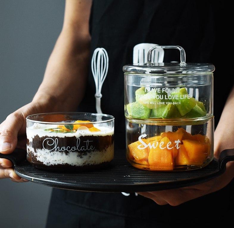 Прозрачные блюдца для сладкого