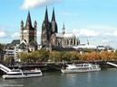 Плаваєм по ріці Райн Кельн Німеччина River Rhine in Cologne Germany