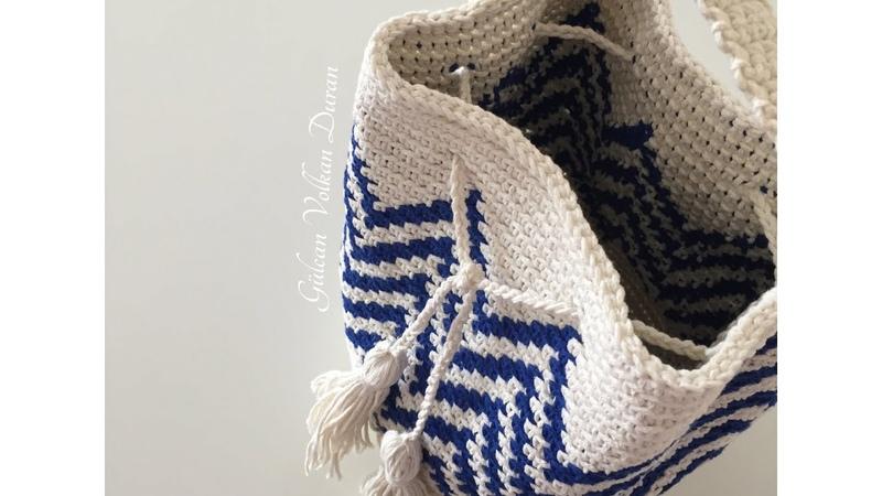 Wayuu çanta yapımı ( Pamuk makrome ip ile) 5. Kısım (son)