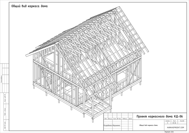 Проект каркасного дома КД-06