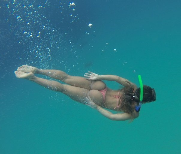 Underwater Girl - Bikini babe underwater in the pool - YouTube