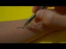 [Рисуем Просто] Временное Тату в домашних условиях линия пульса 51/ A temporary Tattoo at home line pulse