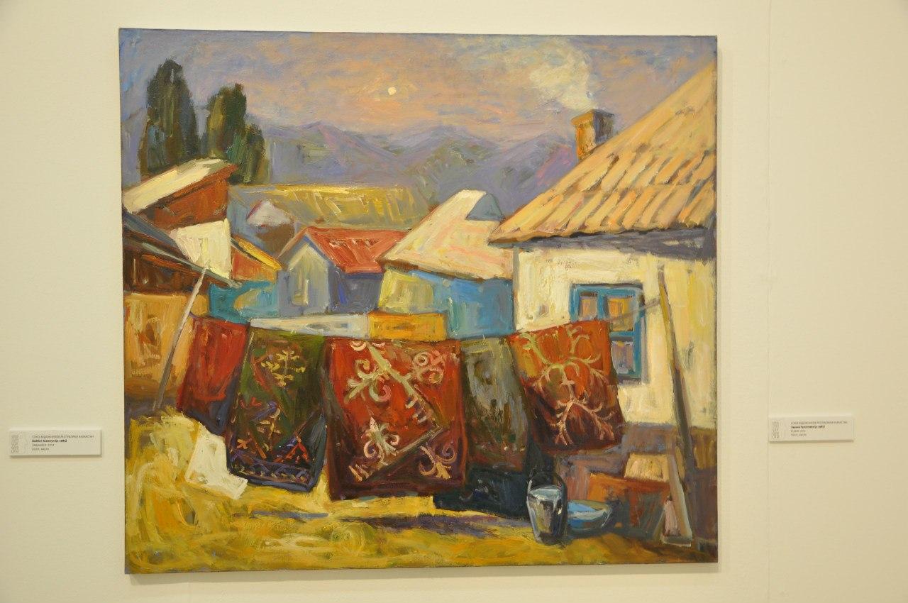 Союз художников Республики Казахстан  Зарина Чукитаева (р. 1987)  В ауле. 2011  Холст, масло
