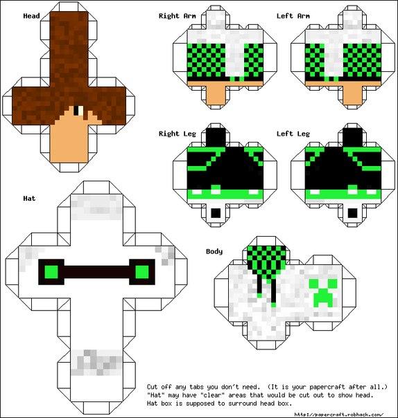 Майнкрафт - модели из бумаги