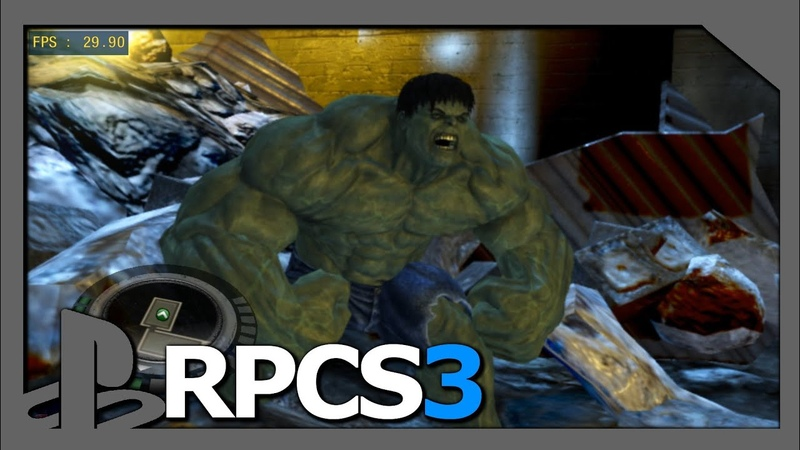 PS3 Emulator | RPCS3 v0.0.5 | LLVM-Vulkan | The Incredible Hulk | i5-8500 | KD-11-WIP | 1