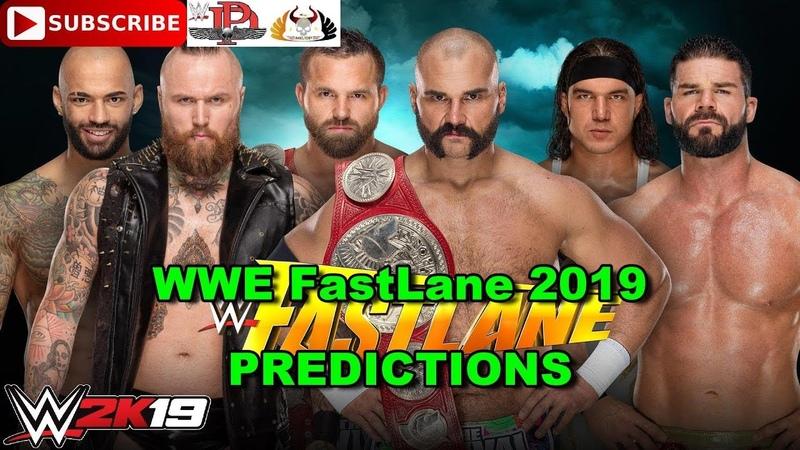 WWE FastLane 2019 Tag Team Titles Revival vs Aleister Black Ricochet vs Chad Gable Bobby Roode