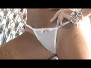 Baci Lingerie : Weißes Bikini-Set mit Formbügeln und String