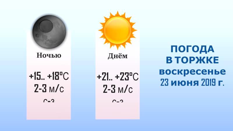 Погода в Торжке на 4 дня (22, 23, 24, 25 июня).