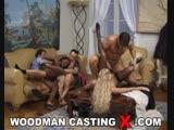 Brenda Logan, Bettina Campbell - BTS - DP on sofa with 3 men