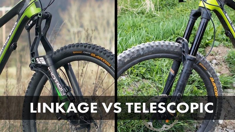 Motion Ride E18 VS MRP Ribbon Coil - Linkage VS Telescopic Enduro Fork