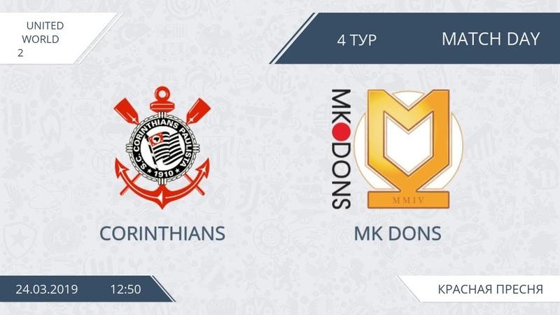 AFL19. United. World 2. Day 4. Corinthians - Mk Dons