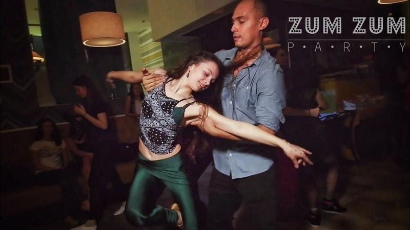 ZumZum Party. João Paulo Jota and Julia Ivanova. Zouk improvisation. (4 da manhã)