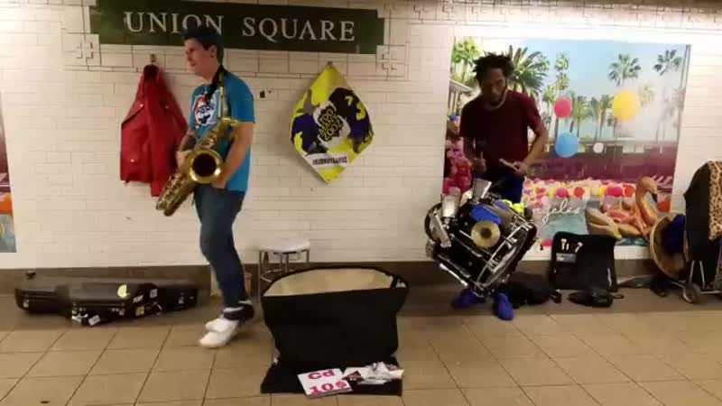 NEW Too Many Zooz Union Square The newest Show 2017 The Coolest saxophone player ever mp4