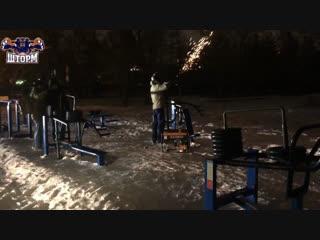Человек, распиливший тренажёр на площадке школы «Шторм» позвонил Александру Шлеменко