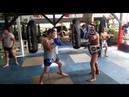 Тайский бокс Работа на падах БУЛАТ в SASIPRAPA